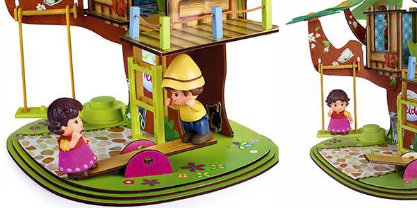 casa del árbol con personajes de la serie Heidi y con sonidos y accesorios oferta