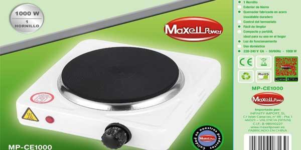 Chollo cocina port til el ctrica maxell powell mp ce1000 for Cocina electrica portatil