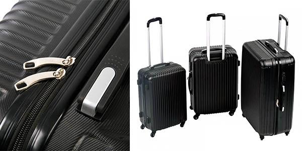 conjunto 3 trolleys de viaje semirrígidos chollo