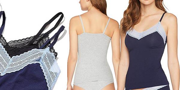 conjunto camisetas intereiores con tejido suave en 2 colores con una brutal relación calidad-precio