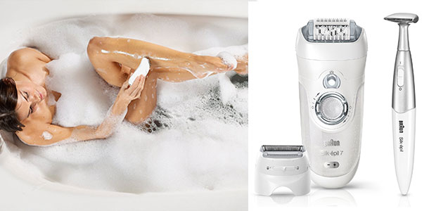 Depiladora y recortadora de zona bikini Braun Silk-Épil 7 7-561 Wet&Dry rebajada