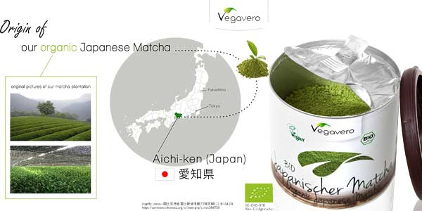 Bio té verde Matcha Japonés Vegavero de calidad Premium chollazo en Amazon