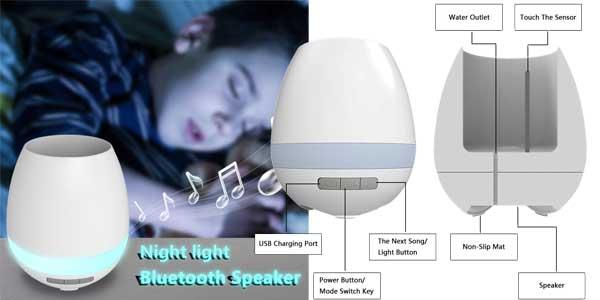 Original maceta Gleading con función de lámpara de mesa táctil y altavoz Bluetooth incorporado barata en Amazon