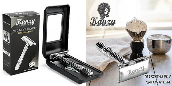 maquinilla de afeitar Kanzy de doble filo gran relación calidad-precio