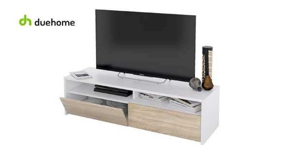 Mueble de salon TV Kioto blanco artik y roble chollo en eBay