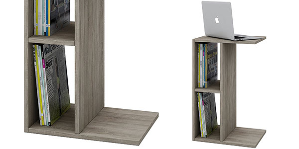 Mesita auxiliar VCM Nachto en madera color roble al mejor precio