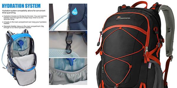 mochila mediana de senderismo con compartimentos Mountaintop con genial relación calidad-precio