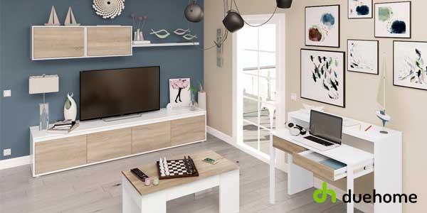 Chollo mueble de comedor alida de duehome en color blanco artik y roble canadian por s lo 119 - Mueble comedor barato ...