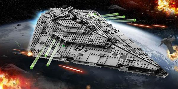 Nave espacial Lego Star Wars destructor de la primera orden a partir de 9 años