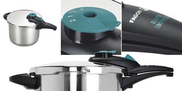 olla exprés Fagor Rapidx-6 capacidad para 6 litros genial relación calidad-precio