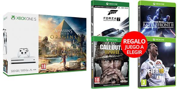 Packs Xbox One S con 2 juegos baratos