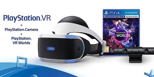 Pack PlayStation VR + Cámara PlayStation V2 + VR Worlds