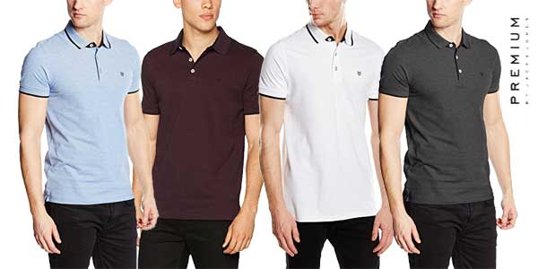 Polos Jack & Jones Premium Jprpaulos Ss Noos para hombre chollo en Amazon