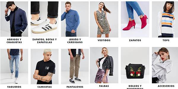 Rebajas en moda Asos otoño-invierno ropa para tod@s