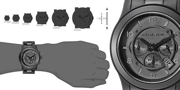 reloj de cuarzo Michael Kors en negro y acero inoxidable