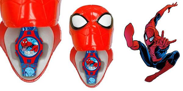 reloj digital con estuche Spiderman chollo