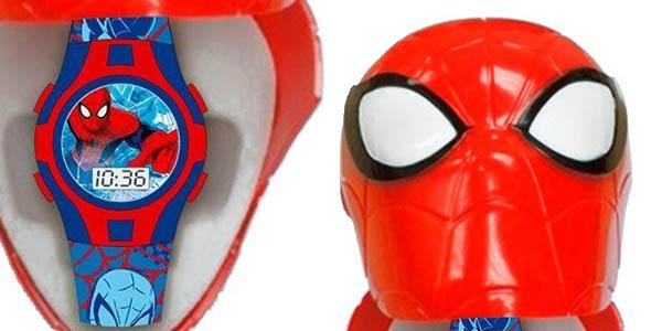 reloj infantil Spiderman con estuche en 3D de plástico diseño divertido