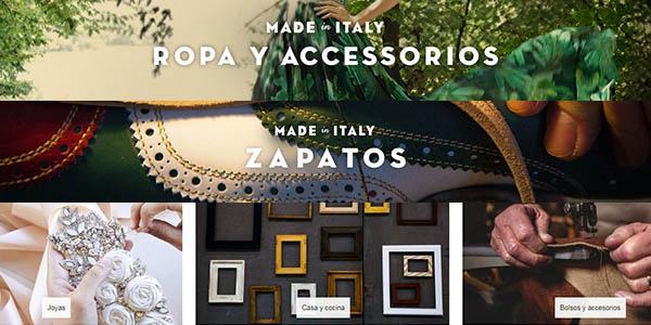 ropa, accesorios y alimentos gourmet de Italia con denominación de origen protegida
