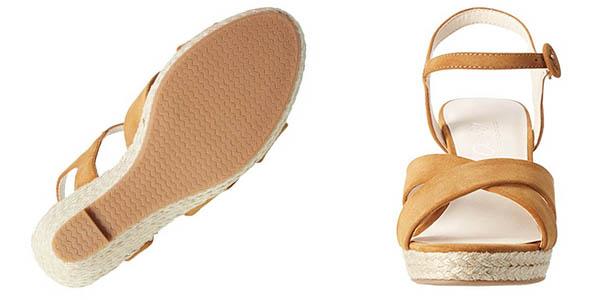 sandalias Another Pair of Shoes Werinae en cuero y cuña de esparto
