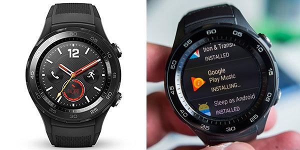 Smartwatch Huawei 2 4G negro con Bluetooth, GPS y Wi-Fi rebajado