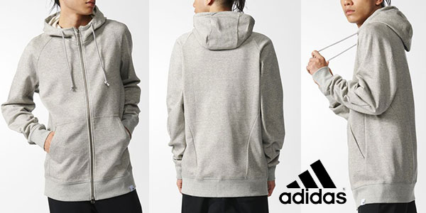 Sudadera con capucha Adidas Originals X by O de color gris barata