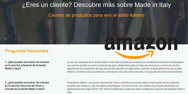 condiciones y características de la tienda Made in Italy de Amazon