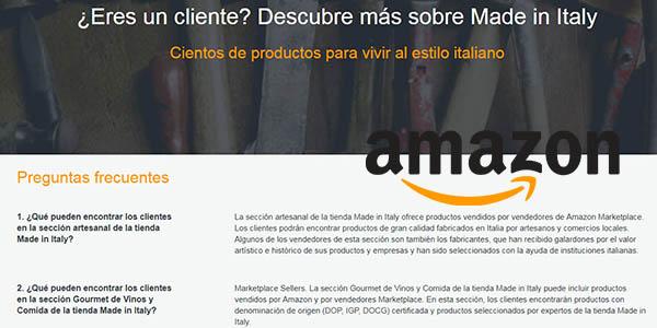 condiciones y características de la tienda Made in Italy de Amazon