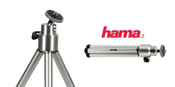Trípode portátil ajustable Hama 4009 de color plateado barato