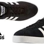 Zapatillas Adidas Neo Court Vulc de color negro y blanco baratas