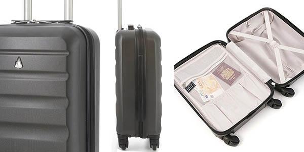Aerolite troley ABS rígido con las medidas permitidas por todas las aerolíneas genial relación calidad-precio