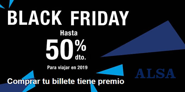 Alsa billetes de bus ofertas Black Friday 2018