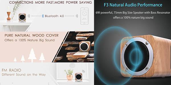 altavoz Bluetooth de madera Zenbre con gran relación calidad-precio