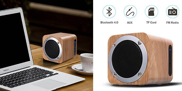 altavoz portátil Zenbre F3 6W Bluetooth con radio oferta flash Amazon