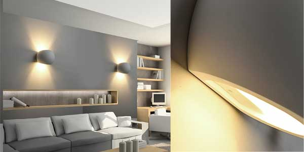 Chollo aplique led de pared deckey de estilo moderno para interiores por s lo 20 99 - Apliques pared modernos ...