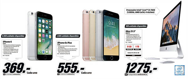 Apple en el Black Friday de Media Markt