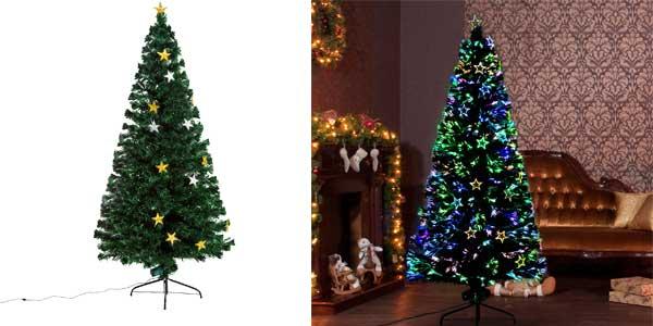 Chollo rbol de navidad homcom con decoraci n y luces por s lo 66 99 con env o gratis - Luces arbol de navidad ...