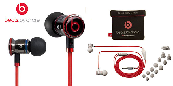 Auriculares in-ear Monster Beats by Dr. Dre negro blanco rebajados