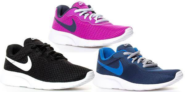 bambas Nike Tanjun Gs en malla transpirable ligeras de colores
