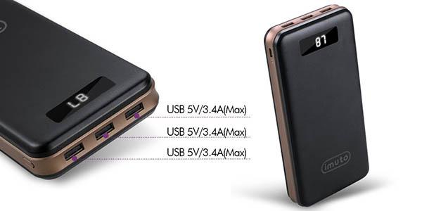 Batería portátil iMuto de 30.000 mAh barata