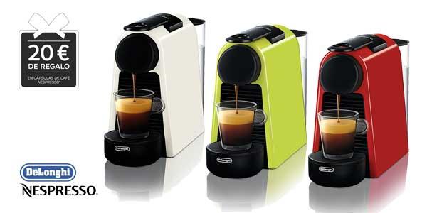 Cafetera de cápsulas De'Longhi Nespresso Essenza Mini EN 85 (blanca) chollo en Amazon España