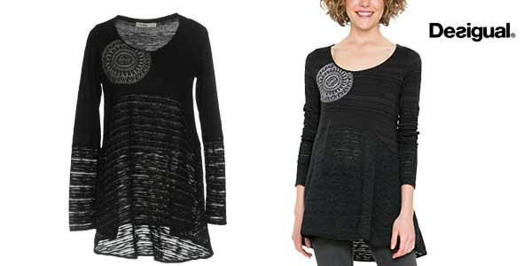 nueva precios más bajos elige auténtico diseño novedoso Chollazo Camiseta Desigual Noelia negra para mujer por sólo ...