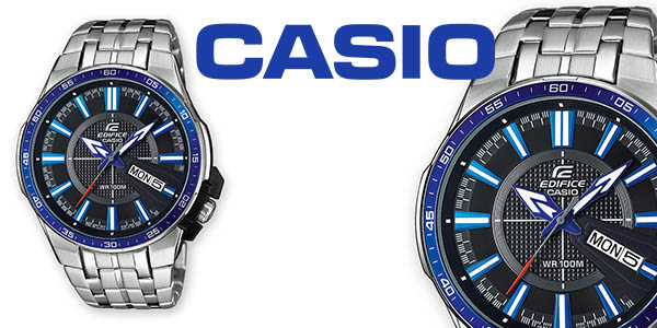 5c188a72adec reloj Casio Edifice EFR106D analógico para hombre en acero inoxidable chollo