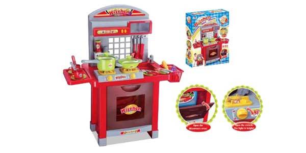 Chollo Cocina de juguete Kitchen infantil con fogones con luz y ...