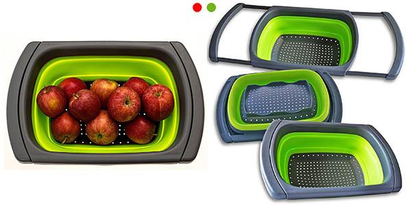 colador de plástico flexible Xuanlan apto para el lavavajillas funcional y plegable