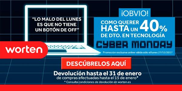 Cyber Monday 2017 descuentos en Worten