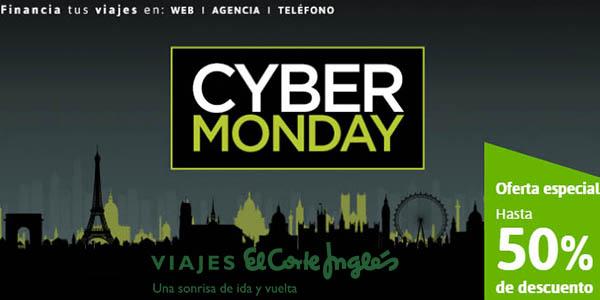 Cyber Monday viajes el Corte Inglés 2018