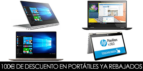 descuentos de 100 euros en portatiles intel amazon