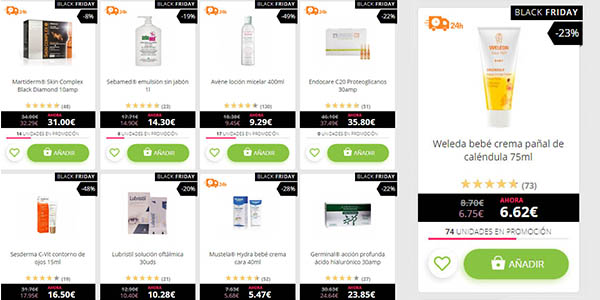 descuentos en cosmética dietética bebé y cuidado personal primeras marcas en Promofarma