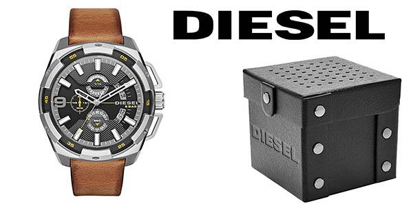 3ae0bb51af78 Chollazo Reloj Diesel Heavyweight con correa de cuero para hombre ...