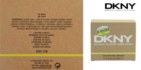 Eau de parfumm Donna Karan DKNY Be Delicious de 100 ml para mujer chollazo en Amazon